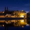 Krásný večerní výhled na Vyšehrad ❤️ . . . . . . . #rekavltava #rekavltavaig #jiznicechy #usek5ig #usek5 #vysehrad …