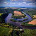 U obce Neznašov, 3 km od Týna nad Vltavou, se stékají dvě největší jihočeské řeky, Vltava a Lužnice. 💧💦   Takhle krásně…